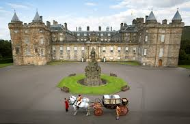 Queen Elizabeth Ii House by Edinburgh The Scottish State Coach At Holyrood Palace And Part