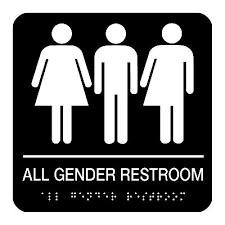 Gender Neutral Bathroom Signs - all gender restroom braille restroom signs seton