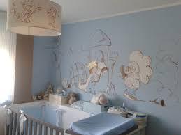 chambre bleu et bébé garçon bleu et taupe