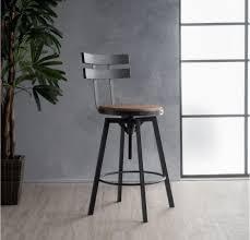 industrial metal bar stools with backs industrial metal bar stool adjustable wood back kitchen high chair