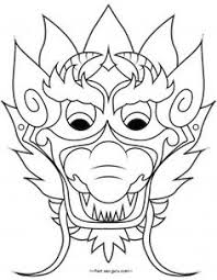 chinese activities crafts kids dragon mask