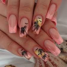 40 palm tree nail art ideas palm tree nail art palm tree nails