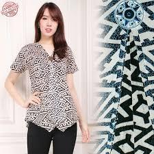blouse wanita qoo10 atasan blouse journey kemeja batik wanita women s clothing