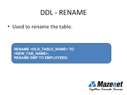 Change Table Name Oracle Oracle Introduction To Sql Commands Mazenet Solution