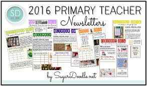 2016 primary teacher newsletters
