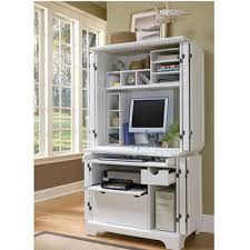 Compact Computer Desk With Hutch Office Furniture Home Styles Naples Compact Computer Cabinet