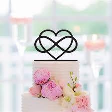 heart wedding cake 6 infinity cake topper infinity heart wedding cake topper