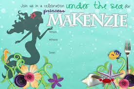 40th birthday ideas mermaid birthday invitation templates free