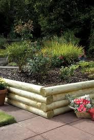 Garden Sleeper Ideas Rounded Garden Sleepers Kebur