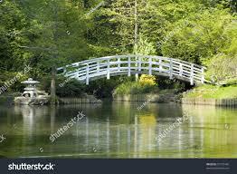 japanese zen gardens japanese zen garden arched moon bridge stock photo 57733456