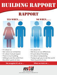 building rapport infographic happy selling idolza