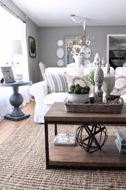 living room grey walls and furnishings white couch wooden table