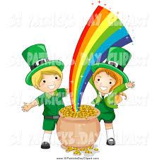 cute leprechaun rainbow clipart 30