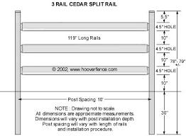 What Is Standard Handrail Height Western Red Cedar Split Rail Fence Jumbo Standard U0026 Pony