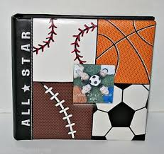 sports photo albums buy boy sports themed photo album 9 x 9 5 holds 160 4 x6