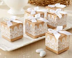 Wedding Favors Box by Rustic Kraft Lace Favor Box Set Of 24