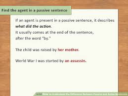 how to understand the difference between passive and active sentences
