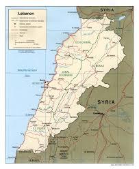 St Joseph River Map The Lebanon Com Lebanon Map Of Lebanon