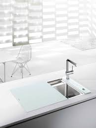 Blanco Inset Sinks by The Blanco Crystalline Offers An Integrated Cutting Board That