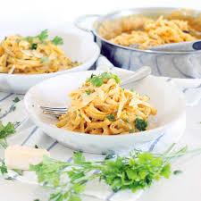 Main Dish With Sauce - pumpkin fettucini alfredo bowl of delicious