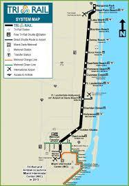 Boca Raton Florida Map by Miami Tri Rail Map