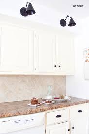 white kitchen cabinets laminate countertops schultz covering laminate counters with white concrete