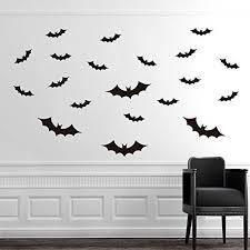 halloween bat wall decals ggg removable bat type wall art decal sticker cool black decor