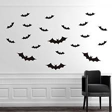 ggg removable bat type wall art decal sticker cool black decor