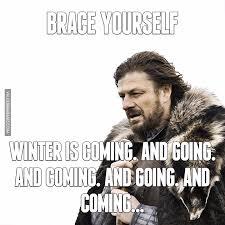 Brace Your Self Meme - brace yourself winter is coming and going and coming and going