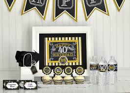 40th birthday decorations 40th birthday decorations for him room ideas