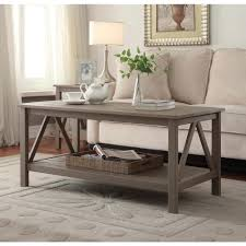 Linon Home Decor Products Inc Linon Home Decor Titian Rustic Gray Coffee Table 86151gry01u The