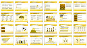 golden cubes powerpoint template u0026 background for presentation