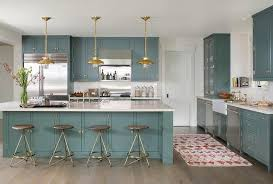 Farrow And Ball Kitchen Cabinet Paint Green And White Kitchen With Brass Accents Design Ideas