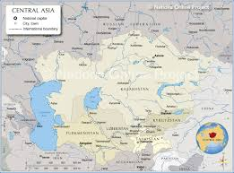 South Asia Blank Map by Map Of Central Asia And Caucasus Region Nations Online Project