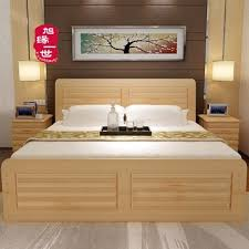 double bed 2017 latest double bed designs wood with box cheap price solid wood