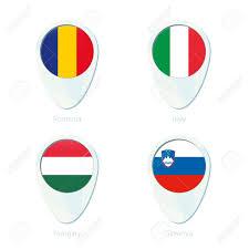 Austro Hungarian Flag Romania Italy Hungary Slovenia Flag Location Map Pin Icon