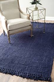 flooring blue nuloom rugs with beige wingback chair and ikea side