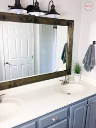 Farm Style Bathroom Vanities by Farmhouse Style Diy Vanity Mirrors Tutorial Must Have Mom