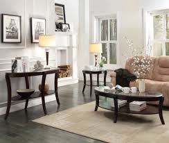 3 Piece Living Room Table Sets Homelegance Pierre 3 Piece Coffee Table Set W Glass Insert In