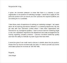 marketing cover letter template example the best cover letter