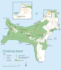 download map of christmas island and australia major tourist