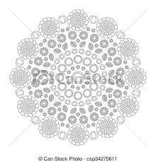 vector clip art vector coloring book circular