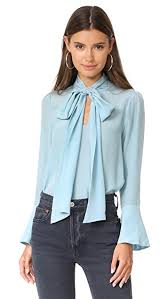 blouses with bows at neck wesley bow neck blouse shopbop