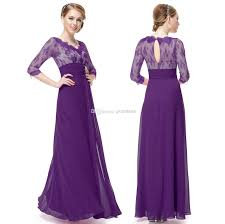 2014 Modest Fashionable Long Sleeve Evening Dresses A Line V Neck