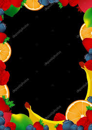 blank chalkboard with fruits vector and illustration design for