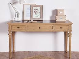 bureau chene blanchi bureau en chêne avec 3 tiroirs longueur 150cm