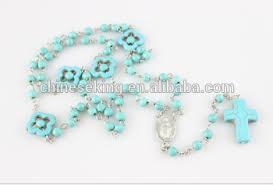 catholic rosary necklace handmade blue turquoise catholic rosary necklace navajo turquoise