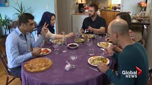 syrian refugees welcomed to thanksgiving dinner table news