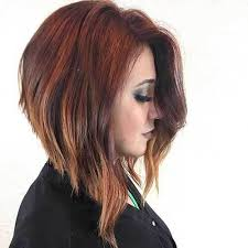 red brown long angled bobs graduated bob hairstyles are the latest trend graduated bob