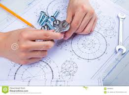 design engineer mechanical design engineer in drawing stock photo image 58088051
